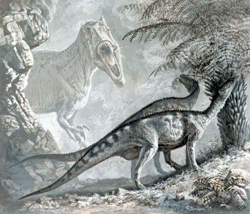 Камптозавры и аллозавр