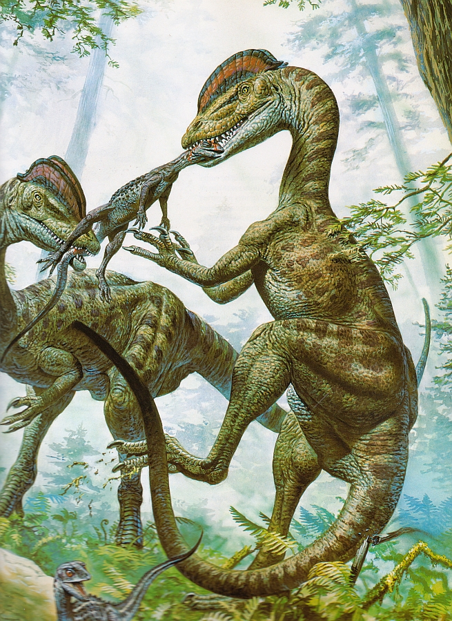 Динозавры и Мир Юрского Периода №16 - Папа-Дилофозавр