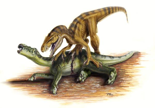Мегараптор и игуанодонтоид