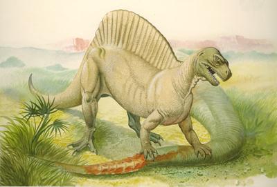 Частично четвероногий спинозавр