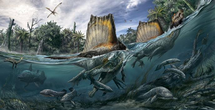 Квадропедальный спинозавр